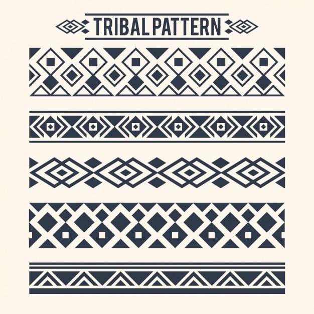 Raccolta separatori tribali Vettore gratuito