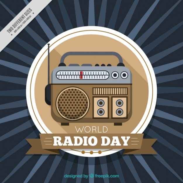 Radio d'epoca sfondo Vettore Premium