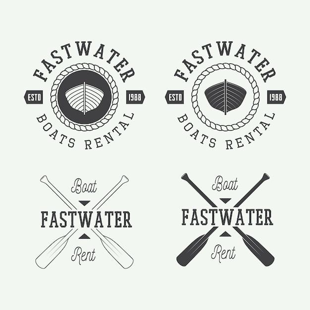 Rafting logo Vettore Premium
