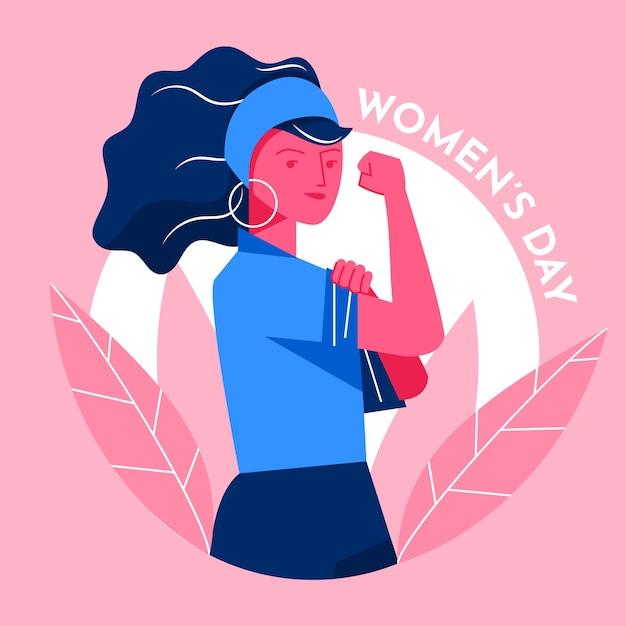 Ragazza del giorno delle donne piane che è sicura Vettore gratuito
