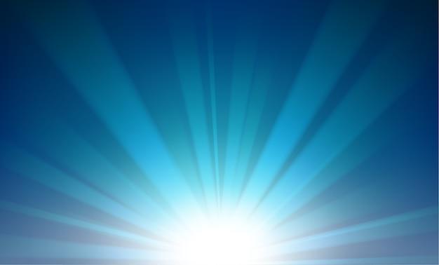 Raggi variopinti che aumentano dalla priorità bassa di orizzonte Vettore Premium