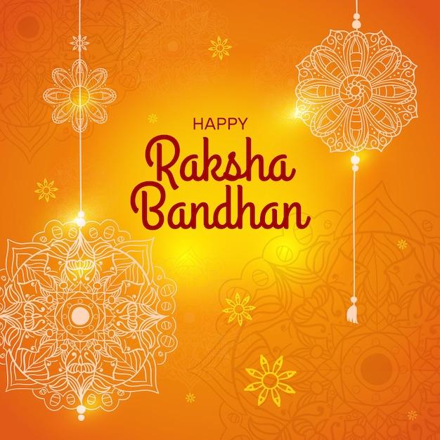 Raksha bandhan disegnato a mano Vettore gratuito