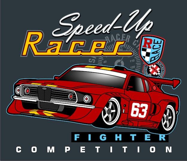 Rally automobilistico urbano Vettore Premium