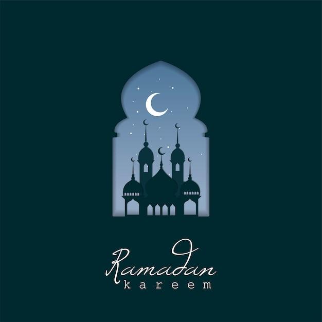 Ramadan kareem design biglietto di auguri Vettore gratuito