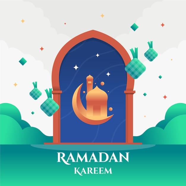 Ramadan kareem design piatto eid mubarak Vettore gratuito
