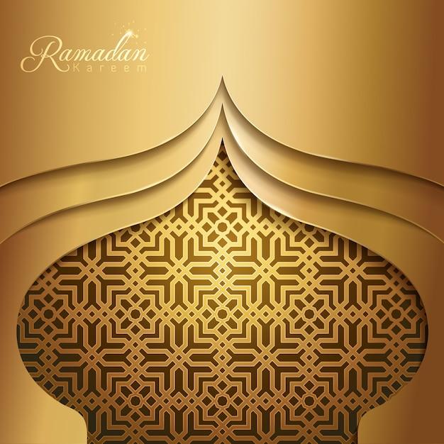 Ramadan kareem islamic mosque dome silhouette Vettore Premium