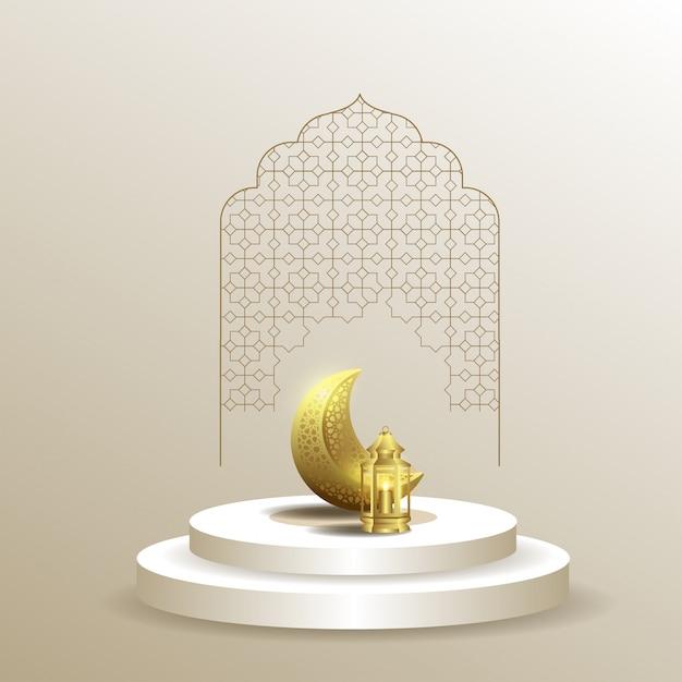 Ramadan kareem islamico Vettore Premium