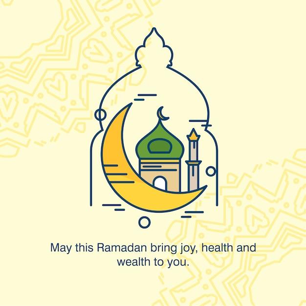 Ramadan kareem typogrpahic con il vettore di disegno creativo Vettore gratuito