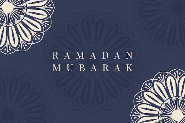 Ramadan mubarak design di sfondo Vettore gratuito