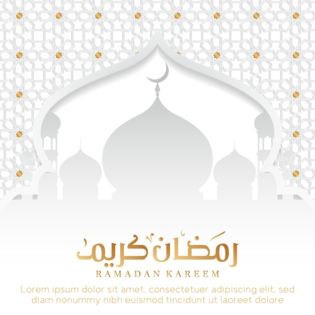 Ramadan sfondo con la moschea Vettore gratuito
