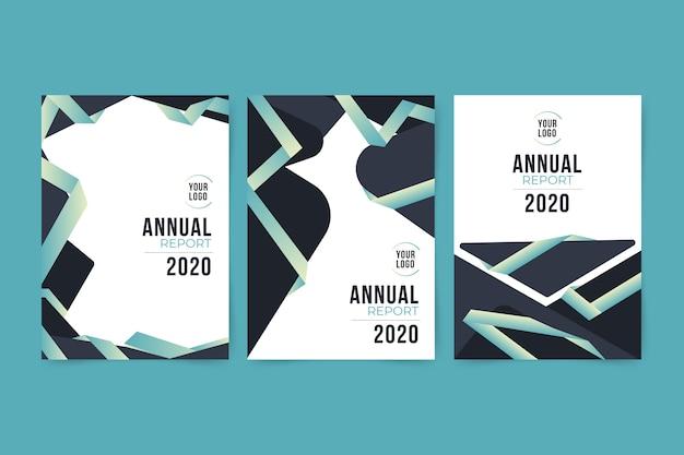 Rapporto annuale astratto colorato 2020 Vettore gratuito