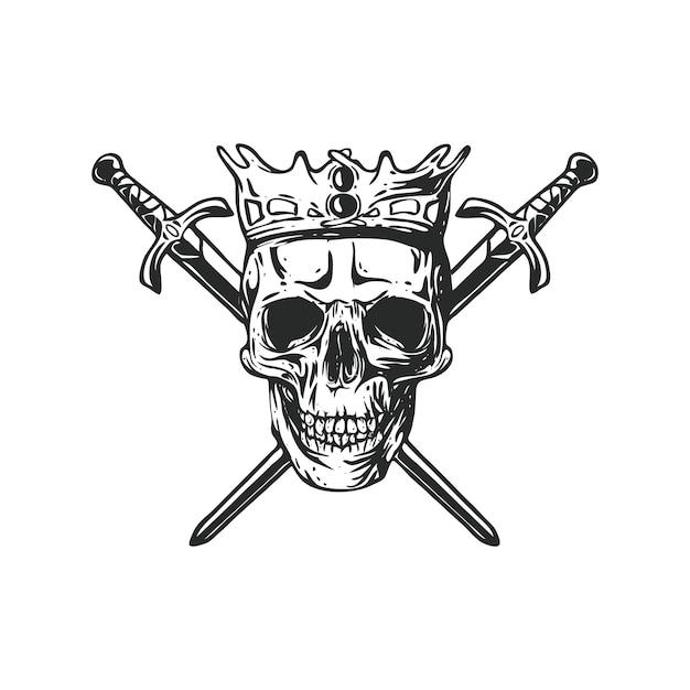 Re della corona Vettore Premium
