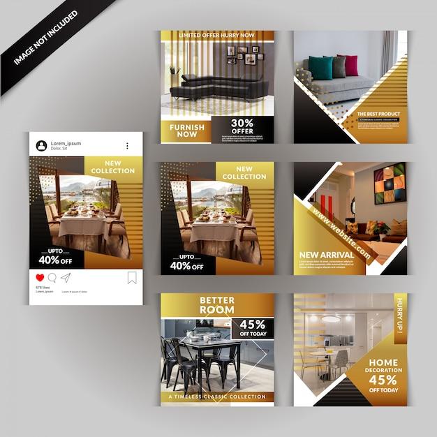 Real estate social media post Vettore Premium
