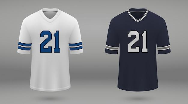 Realistica maglia da football americano Vettore Premium