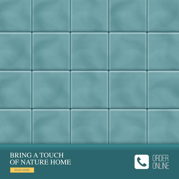 Realistici pavimenti in ceramica con un tocco di natura tagline casa del produttore Vettore gratuito