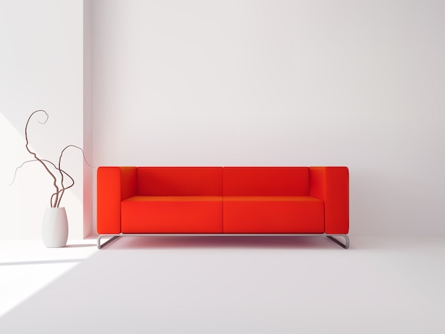 Realistico appartamento di lusso soggiorno interno Vettore gratuito