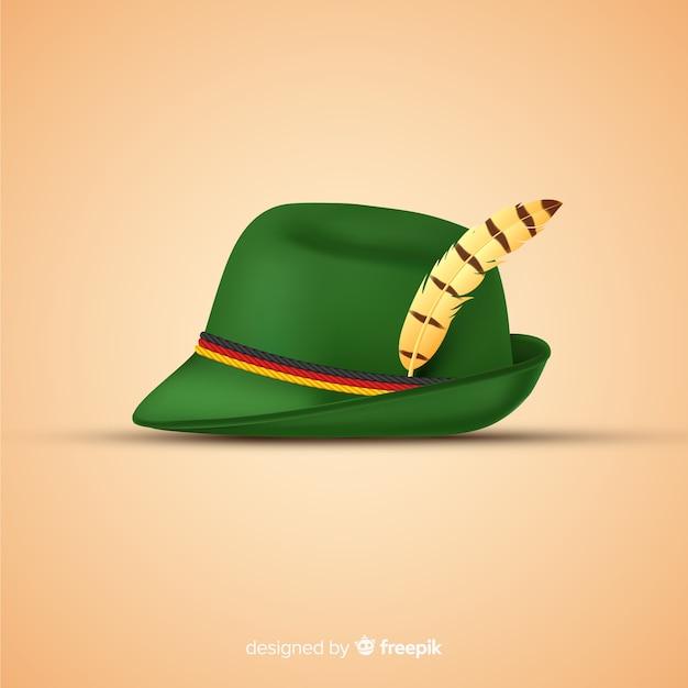 Realistico cappello tradizionale più oktoberfest Vettore gratuito
