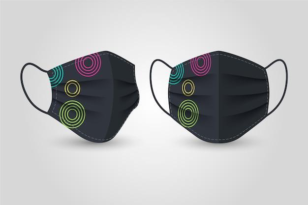 Realistico concetto di maschera in tessuto Vettore gratuito