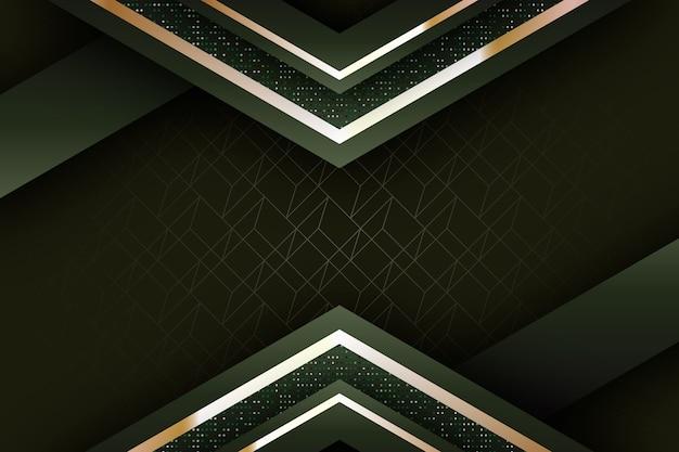 Realistico elegante forme geometriche sullo sfondo Vettore gratuito