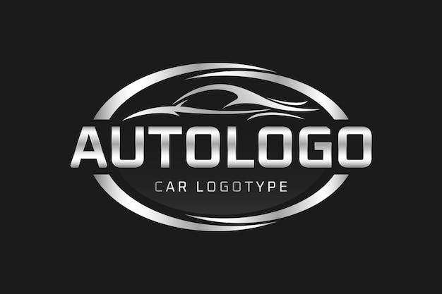 Realistico logo metallico auto Vettore gratuito