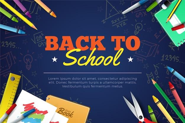 Realistico ritorno a scuola Vettore gratuito