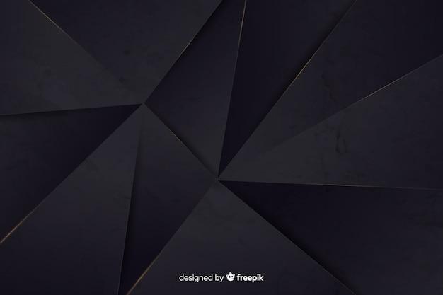 Realistico scuro poligonale Vettore gratuito