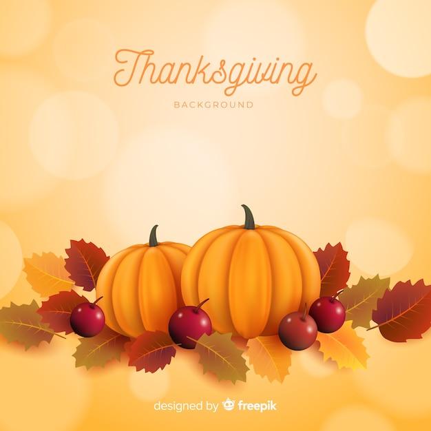Realistico sfondo di ringraziamento Vettore gratuito