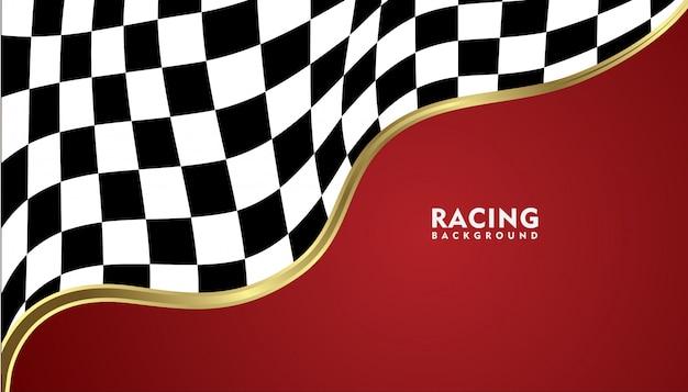 Realistico sfondo metallico oro da corsa, racing sfondo quadrato Vettore Premium