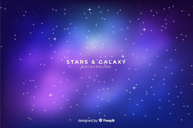 Realistico sfondo notte stellata Vettore gratuito