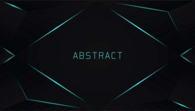 Realistico sfondo triangolare con linea fulmine blu Vettore Premium