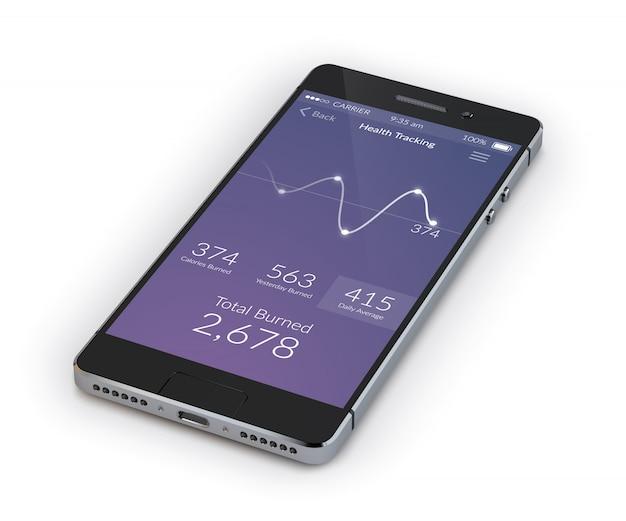 Realistico smartphone 3d Vettore gratuito