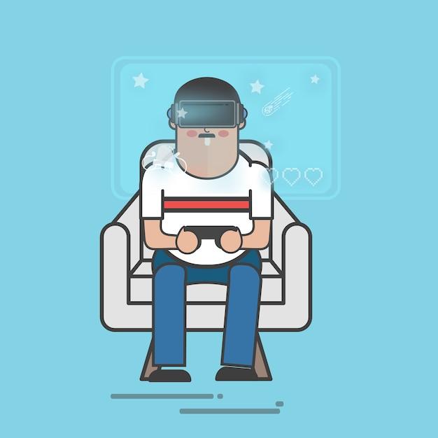 Realta virtuale Vettore gratuito
