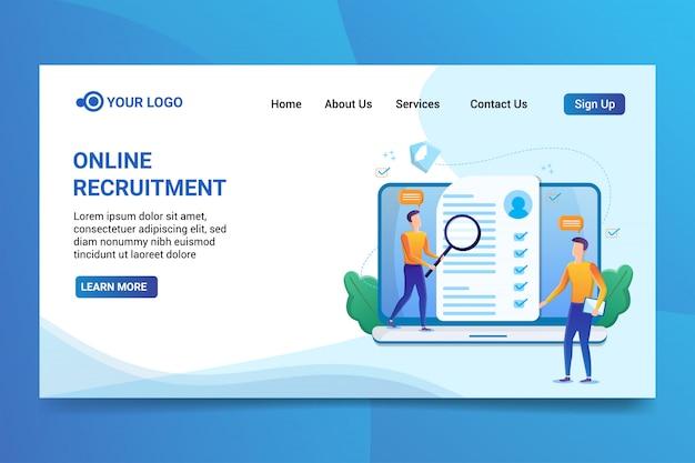 Reclutamento online Vettore Premium