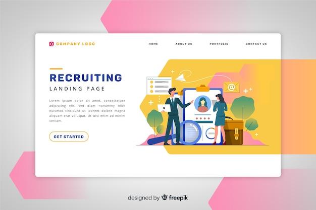 Recruiting landing page Vettore gratuito