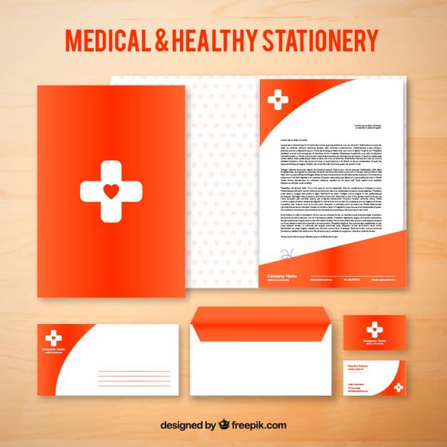 Red cancelleria medico Vettore gratuito