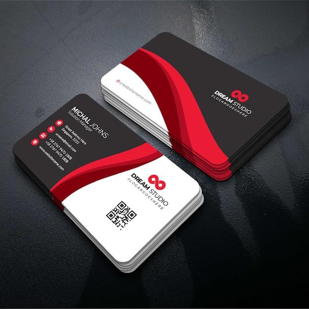 Red elegante carta aziendale Vettore gratuito