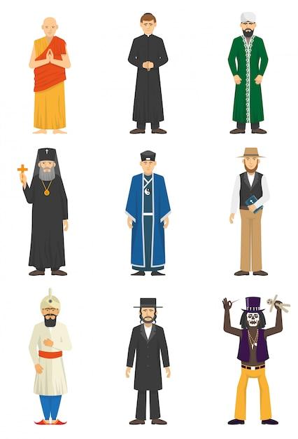 Religione confessione persone Vettore gratuito