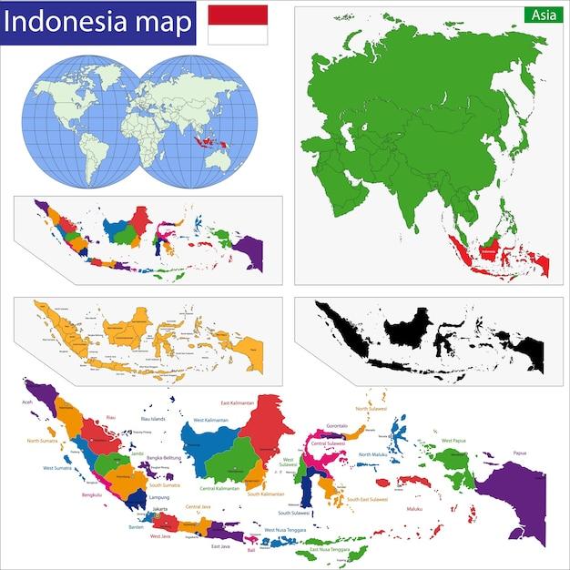 Repubblica di indonesia Vettore Premium