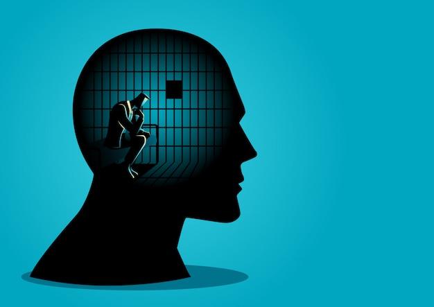 Restrizioni sulle libertà di pensiero Vettore Premium