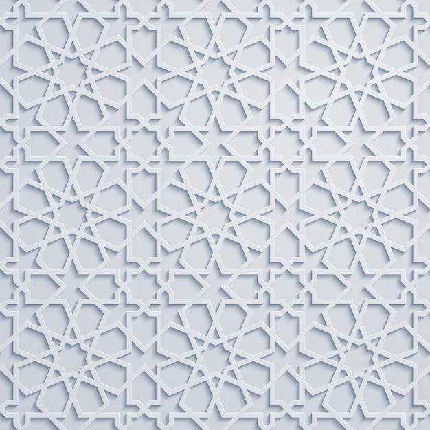 Reticolo arabo del marocco ornamento geometrico Vettore Premium