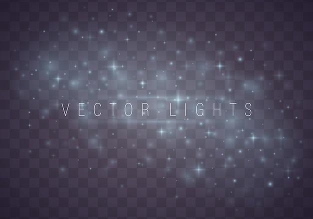 Reticolo astratto di natale stelle brillanti su fondo blu Vettore Premium
