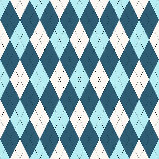 Reticolo blu plaid senza soluzione di continuità. diamond check - idea per la tua stampa. Vettore Premium