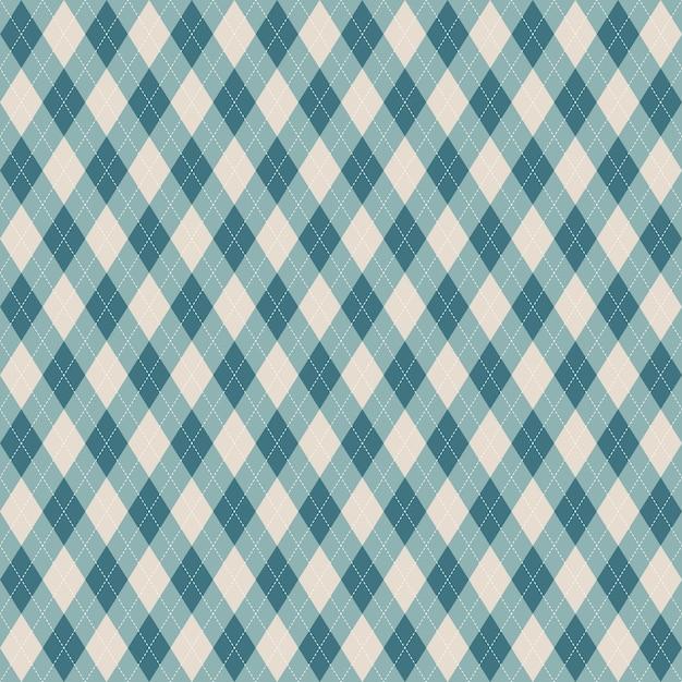 Reticolo blu plaid senza soluzione di continuità. Vettore Premium
