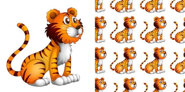Reticolo senza giunte del fumetto del leone Vettore gratuito
