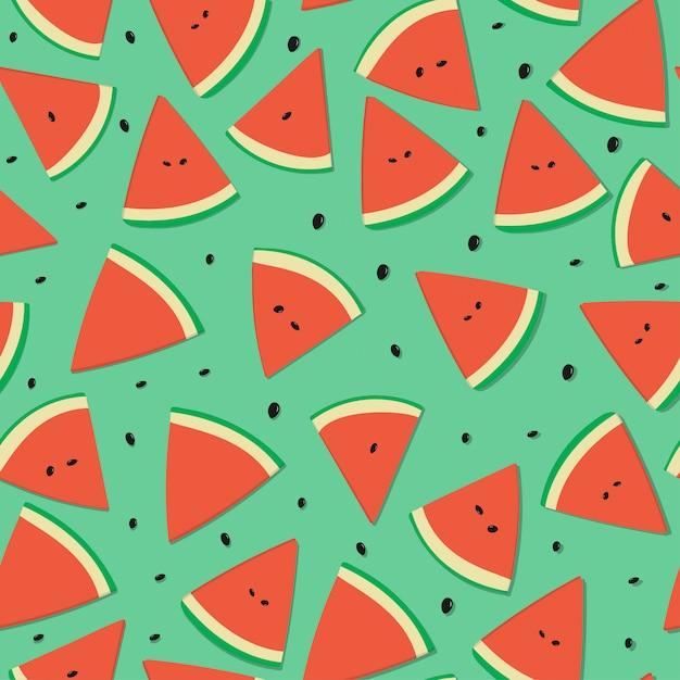 Reticolo senza giunte della frutta dell'anguria per estate Vettore Premium