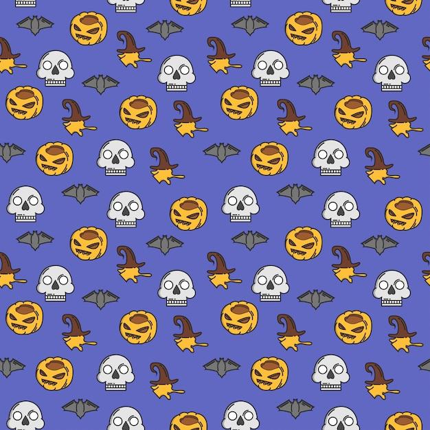 Reticolo senza giunte di halloween Vettore Premium