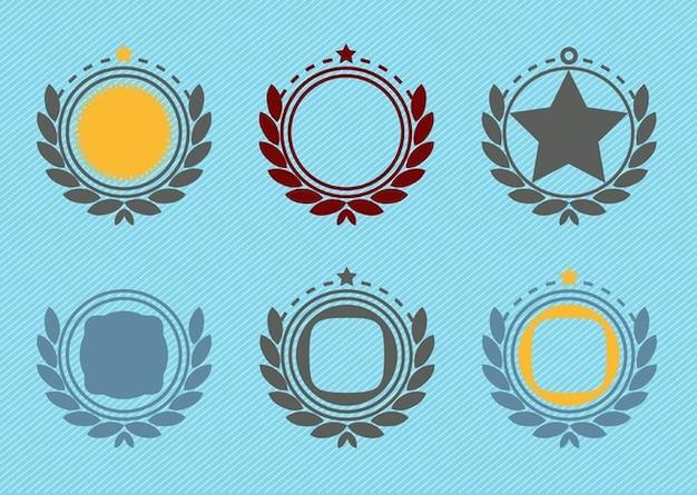 retrò emblema distintivo decorazioni Vettore gratuito
