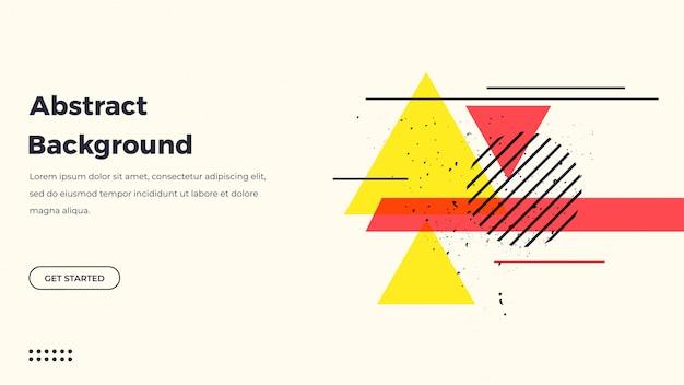 Retrò astratto sfondo geometrico Vettore Premium