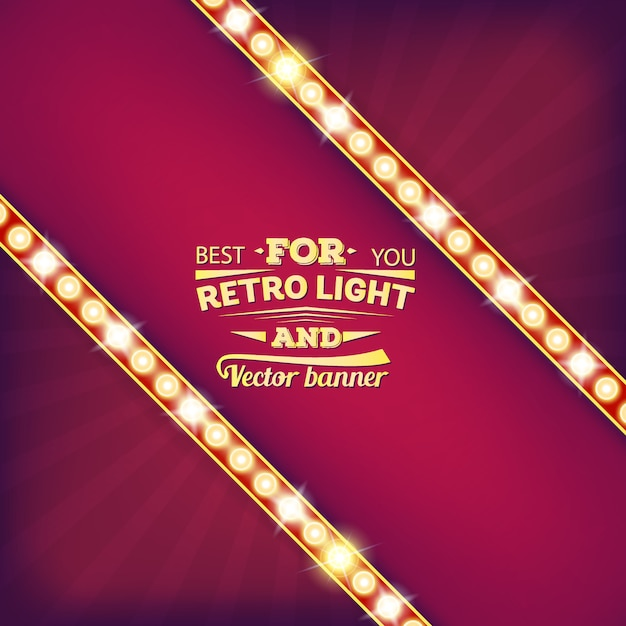 Retro bandiera della bolla di discorso della lampadina. Vettore Premium