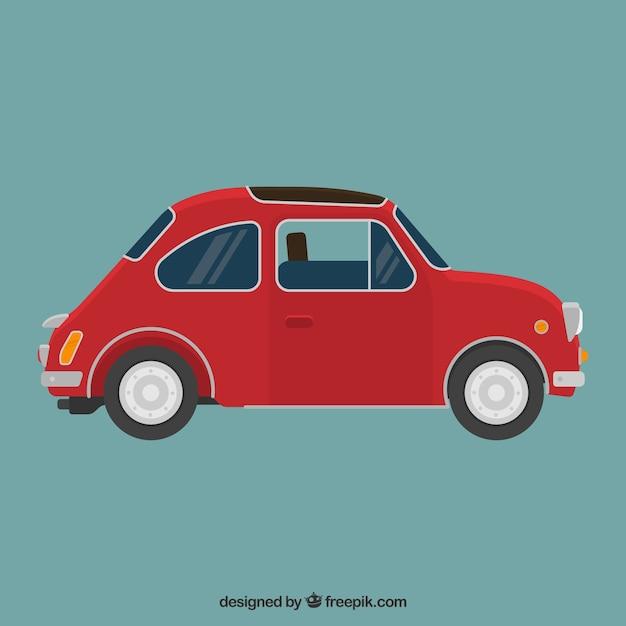 Retro car red Vettore gratuito